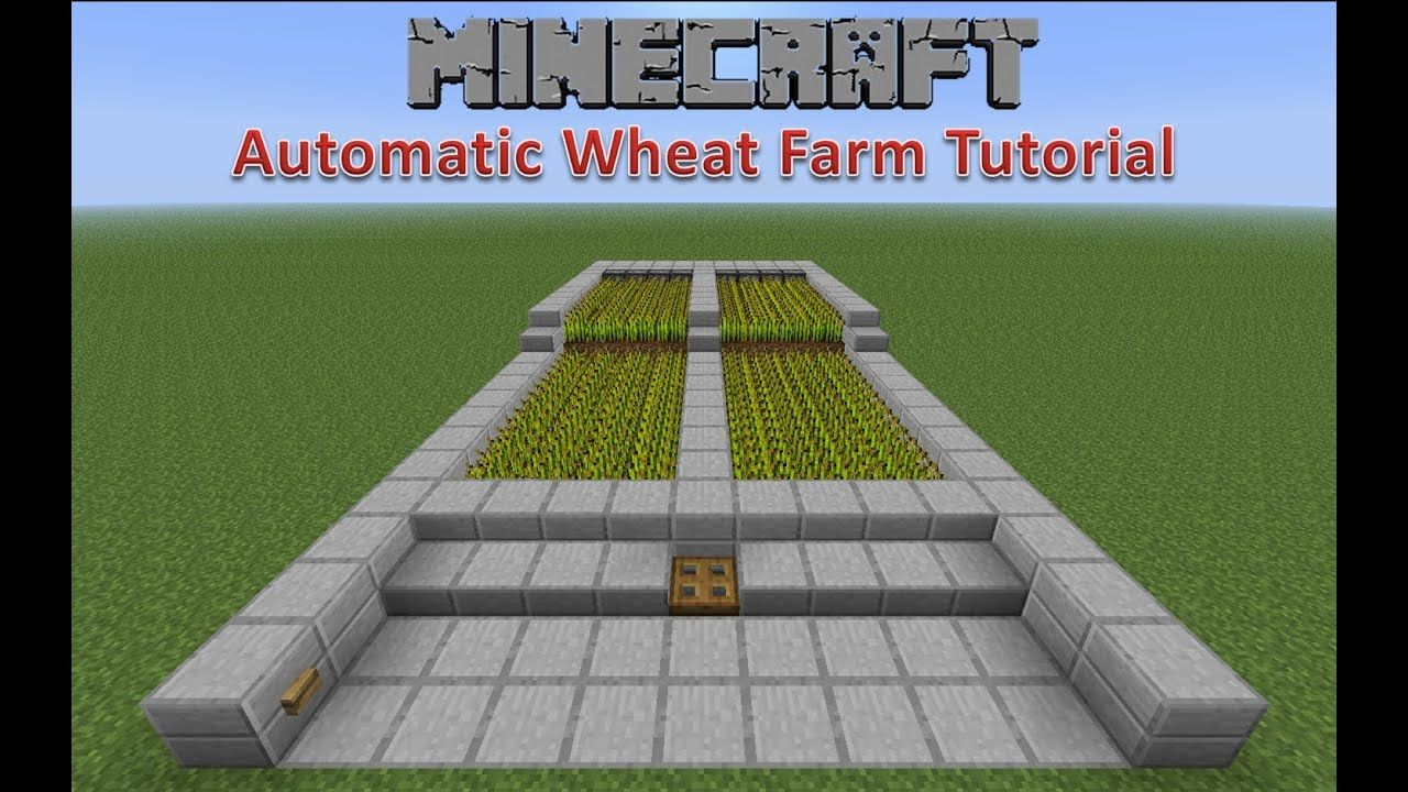 Minecraft Automatic Wheat Farm Tutorial YouTube in 2020