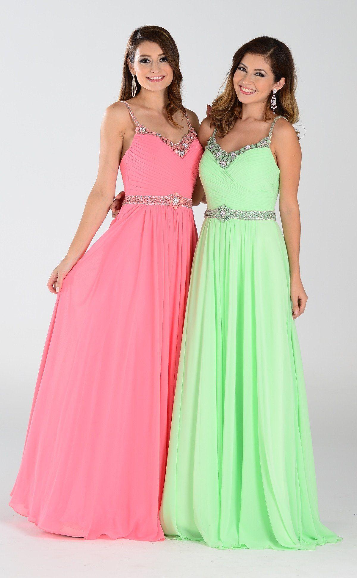 Long Chiffon Bridesmaid Dress 101-7408 - CLOSEOUT | Products