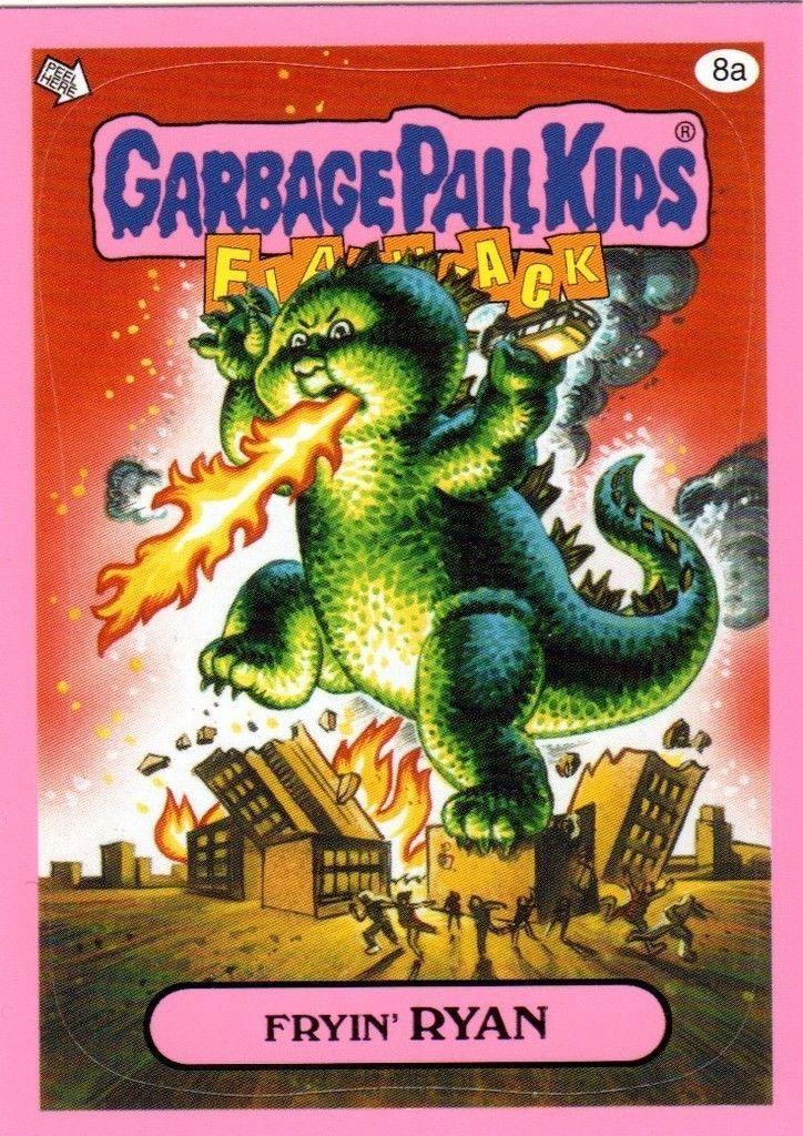 Garbage Pail Kids Flashback 3 Pink Fryin Ryan 8a Garbage Pail Kids Garbage Pail Kids Cards Garbage