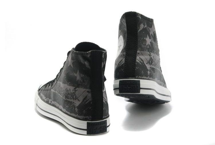 1e15b981da33 Unisex Converse American Flag Black Grey Graffiti Print Chuck Taylor All  Star High Tops Canvas Sneakers