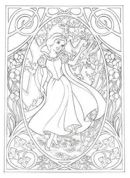 Snow White Coloring Page Disney Coloring Pages Coloring Pages