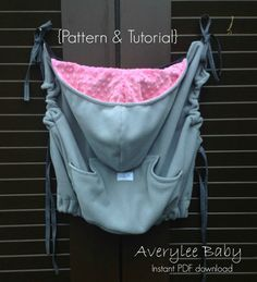 Contoured Babywearing Cozy Cover Pattern & Tutorial INSTANT DOWNLOAD ...