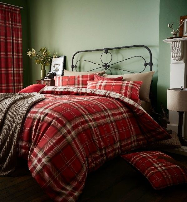 Perfect Kelso Red Duvet Cover Set