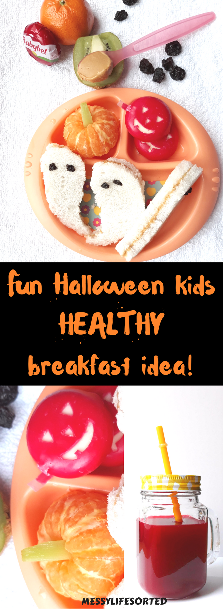 HEALTHY HALLOWEEN BREAKFAST IDEA FOR KIDS #halloweenbreakfastforkids A healthy start to Halloween with this fun healthy breakfast idea for kids #halloweenbreakfastforkids