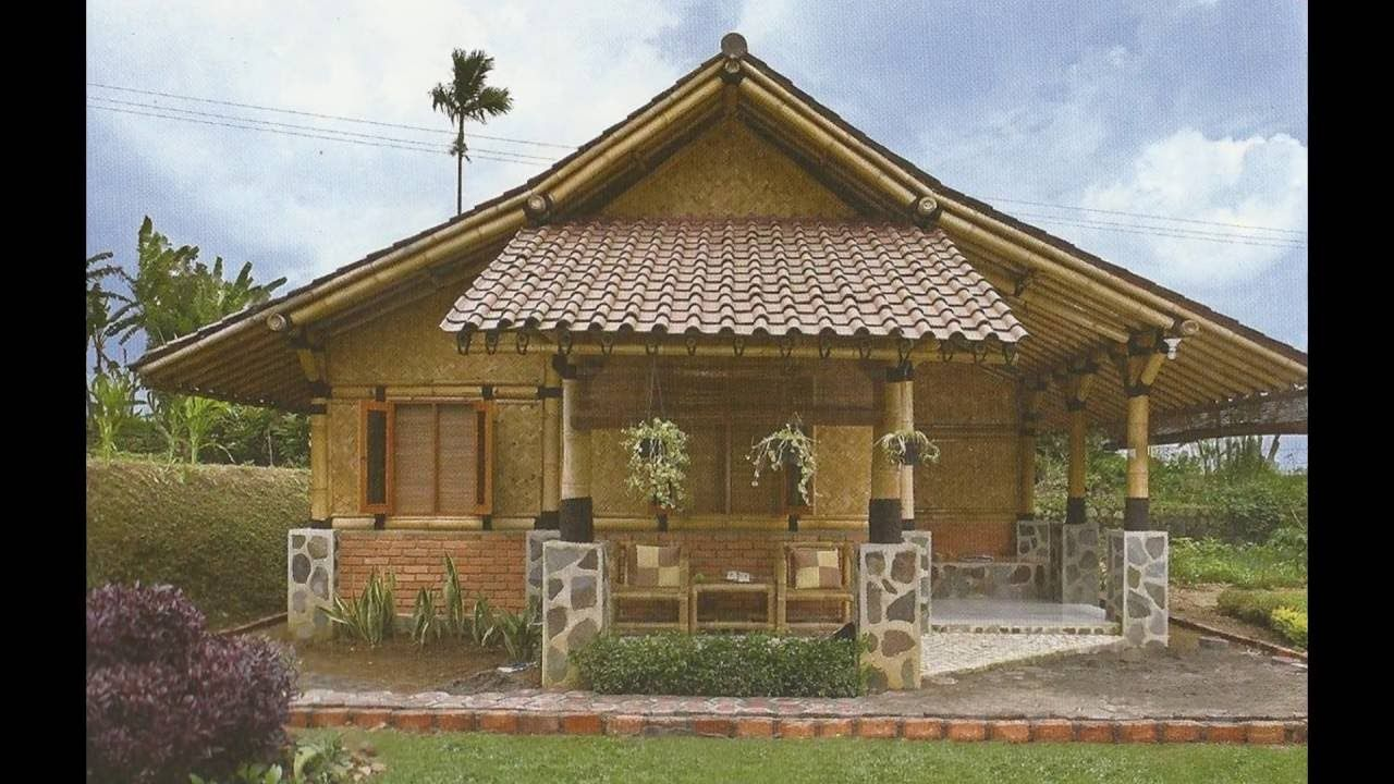 Unique Bamboo House Minimalist And Modern Bamboo House Design