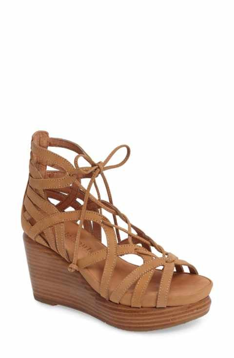 25f78b4acd8 UGG® Maryssa Ghillie Leather and Suede Lace Up Tassel Sandals | Art ...