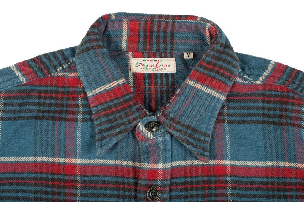SC Blue/Red Check Selvedge Winter Flannel - Self Edge