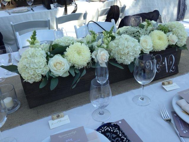 white flowers- center pieces