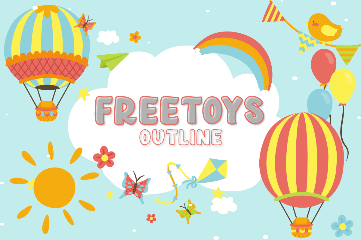 Freetoy outline in 2020 (With images) New fonts, Toys