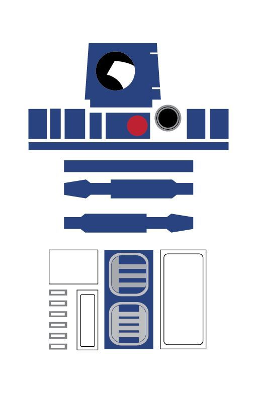 r2d2 printable template   Google Search | Star Wars | Pinterest