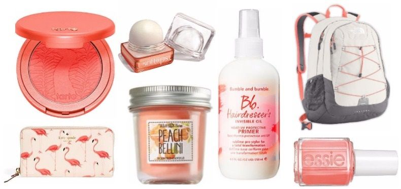 Our favorite peach beauty and wellness items including the best travel backpack by The North Face
