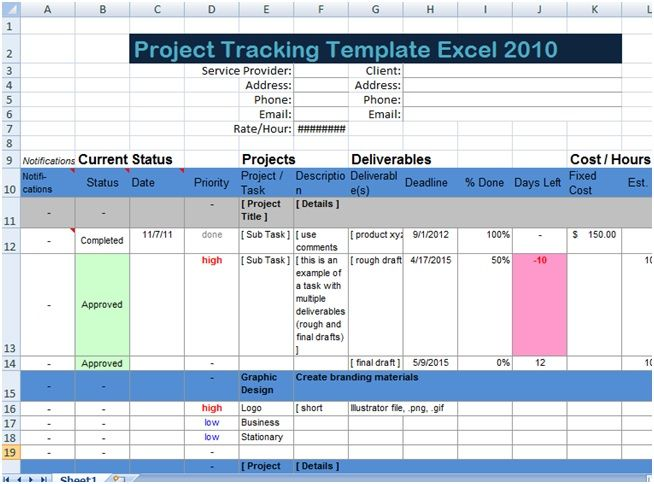 Download Excel Spreadsheet Templates For Tracking XLS u2013 Microsoft - free project planner template