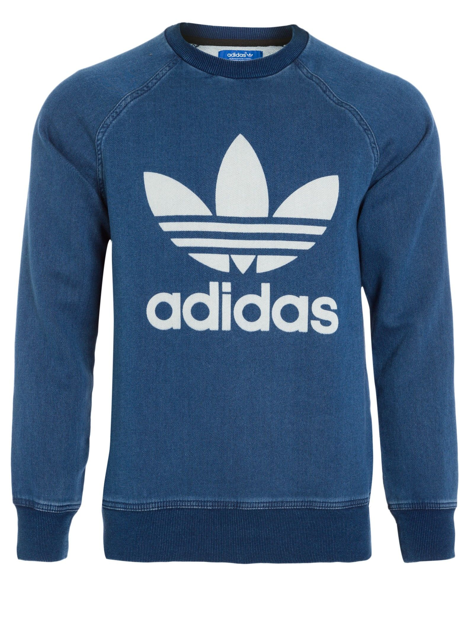 1851608f1b566 Shop2gether - Moletom Masculino Denim - Adidas Originals - Azul ...