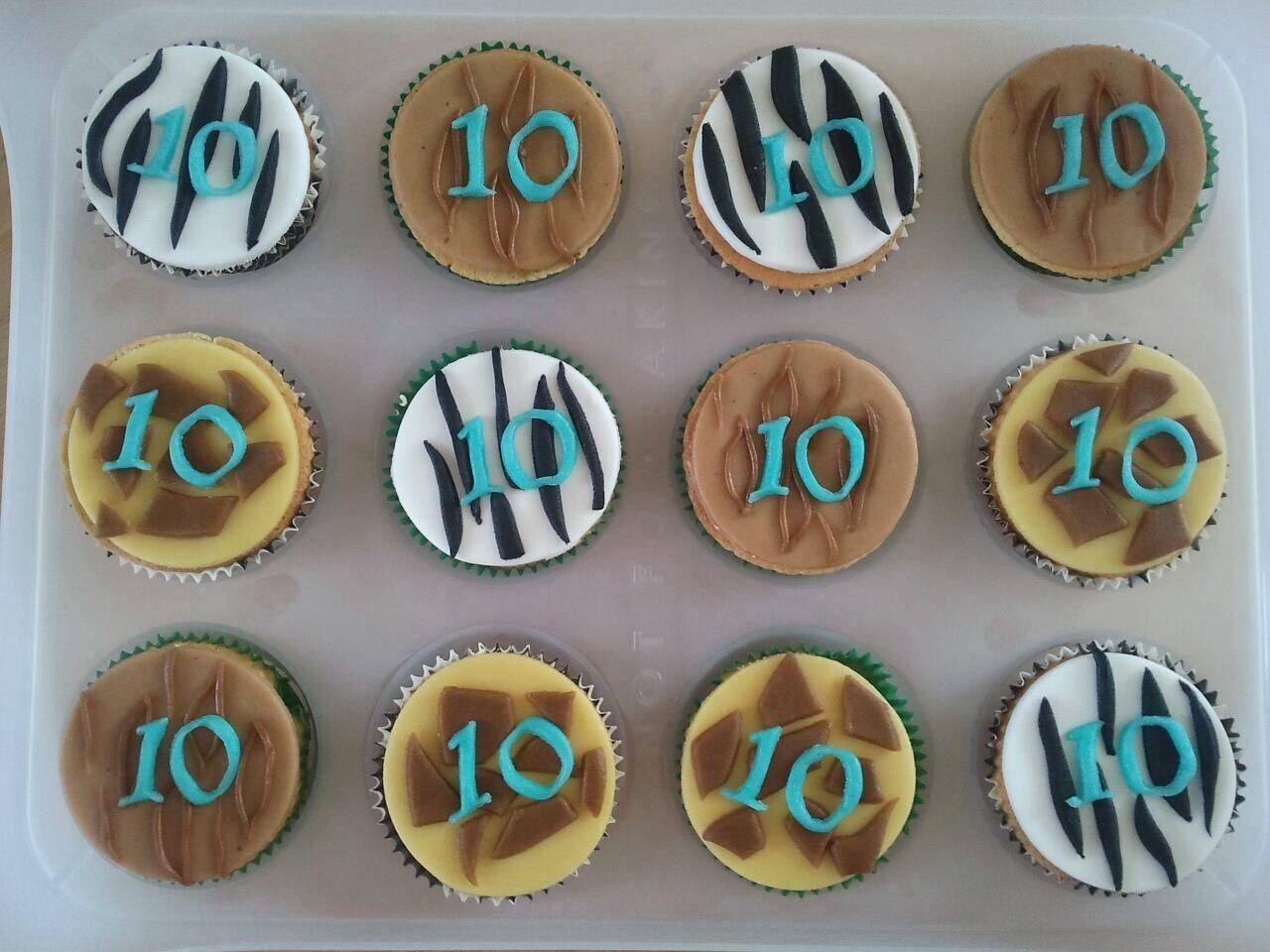 Dierenprint cupcakes