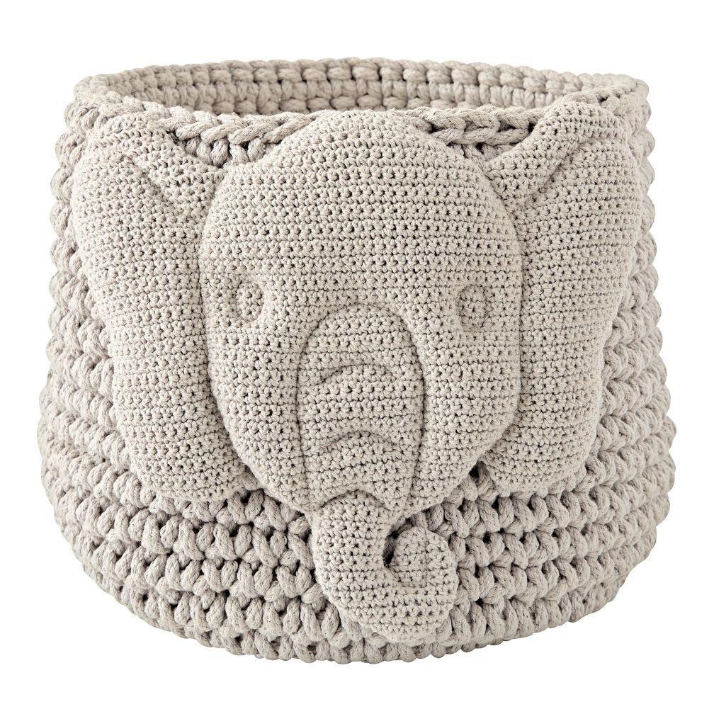 While Youu0027ll Surely Appreciate This Storage Binu0027s Handcrafted Quality, We  Have A Hunch Your Little One Will Go Wild For The Friendly Face Knitted On  It.