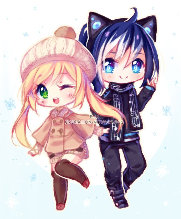 Commission Fun Winter By Hyanna Natsu Deviantart Com On Deviantart Cute Anime Chibi Anime Chibi Chibi Drawings