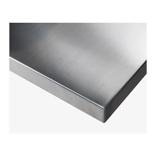 Sanfrid Table Top Ikea Stainless Steel Gives A Strong And Durable Surface That Is Easy To Keep Clean Pre Drilled Leg Holes For Embl