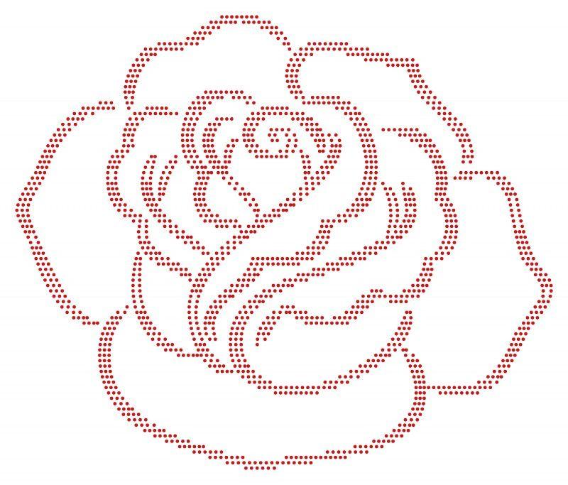 Roos   Bloemen en Planten   glittermotifs   Applikationen ...