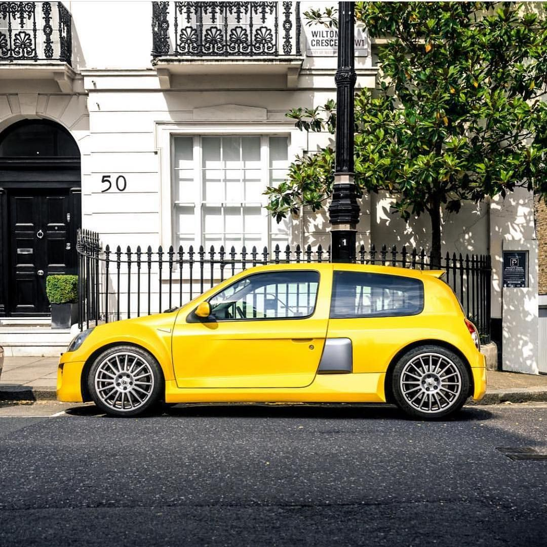 "Renault Clio V6: Yellow Rocket. Renault Clio V6 ""Renault Sport"" • Www"