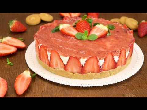 Strawberry cheesecake: a simple recipe for a delicious dessert! - YouTube