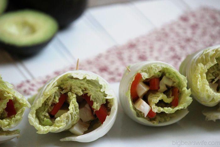 Avocado Chicken Cabbage Wraps -