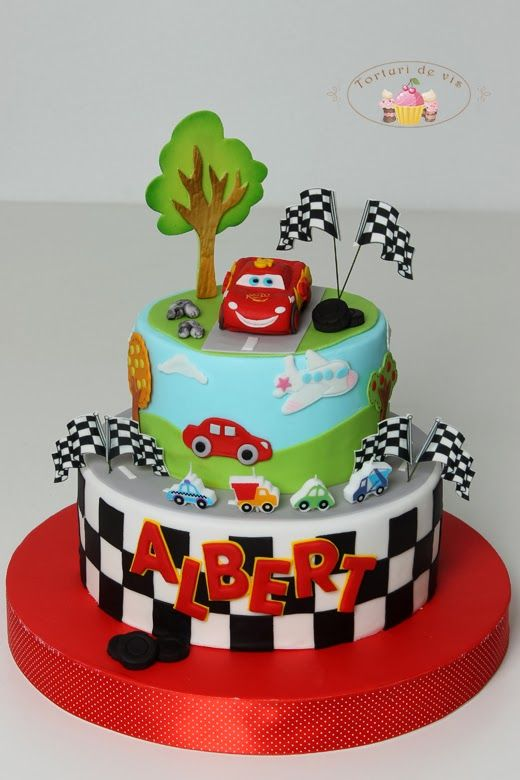 Fulger Mcqueen Pentru Albert Cars Birthday Cake Cartoon Cake Kids Cake