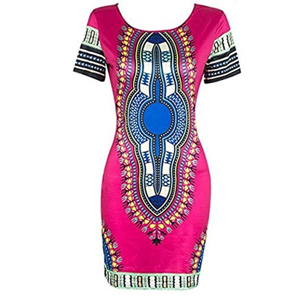 5e8d3c9f49 Maternity Outfits - beautiful maternity dresses : AmyDong Womens Dress Women  Traditional African Print Dashiki Bodycon Sexy Short Sleeve Dress Clubwear  Maxi ...