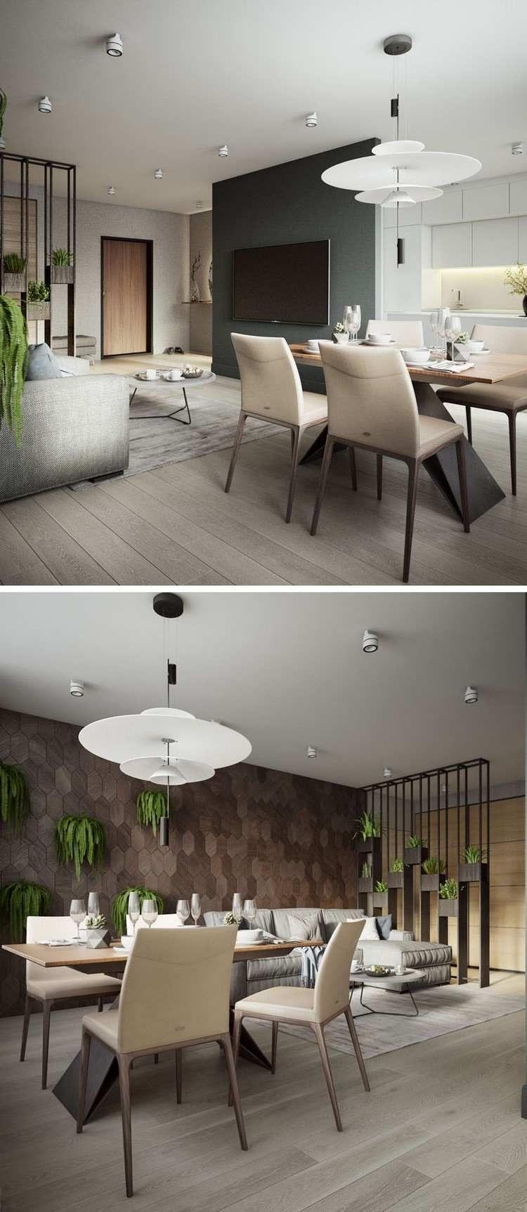 cloison ajourée bois revêtement mural salon idée déco effet nature