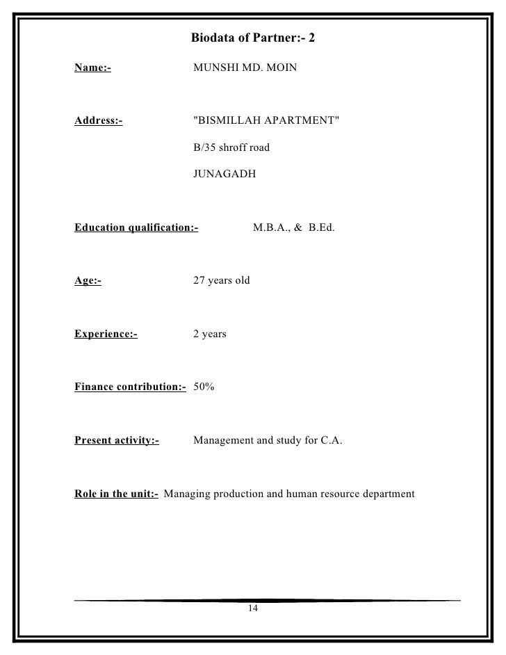 Cover Letter Biodata Template Download Free Templates Doc