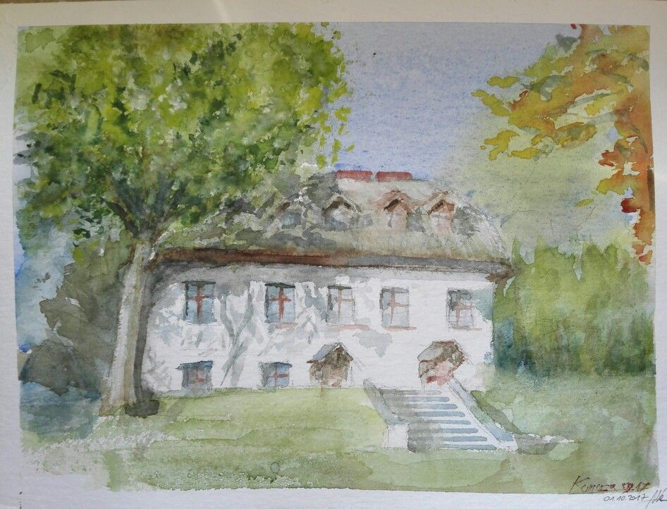Old house watercolor