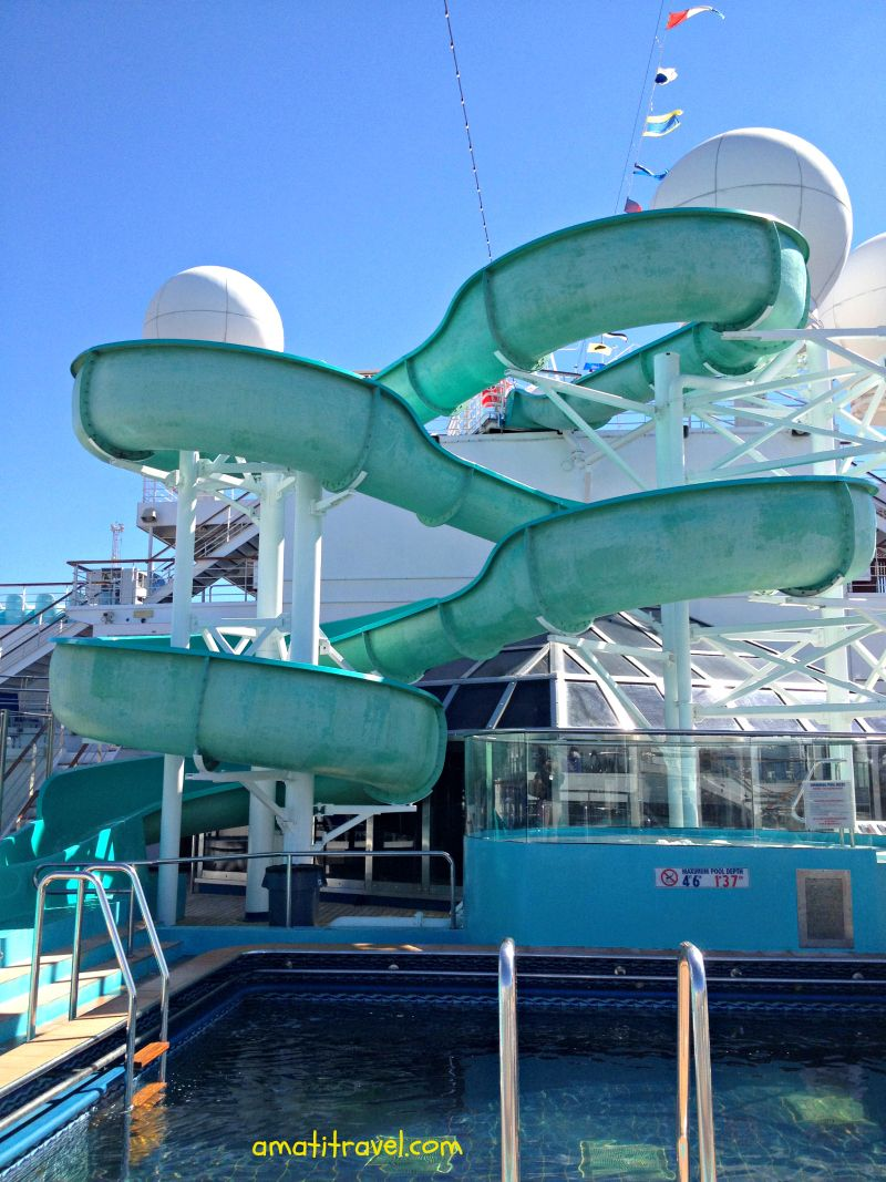 fancy water slide on the carnival glory travel cruising http