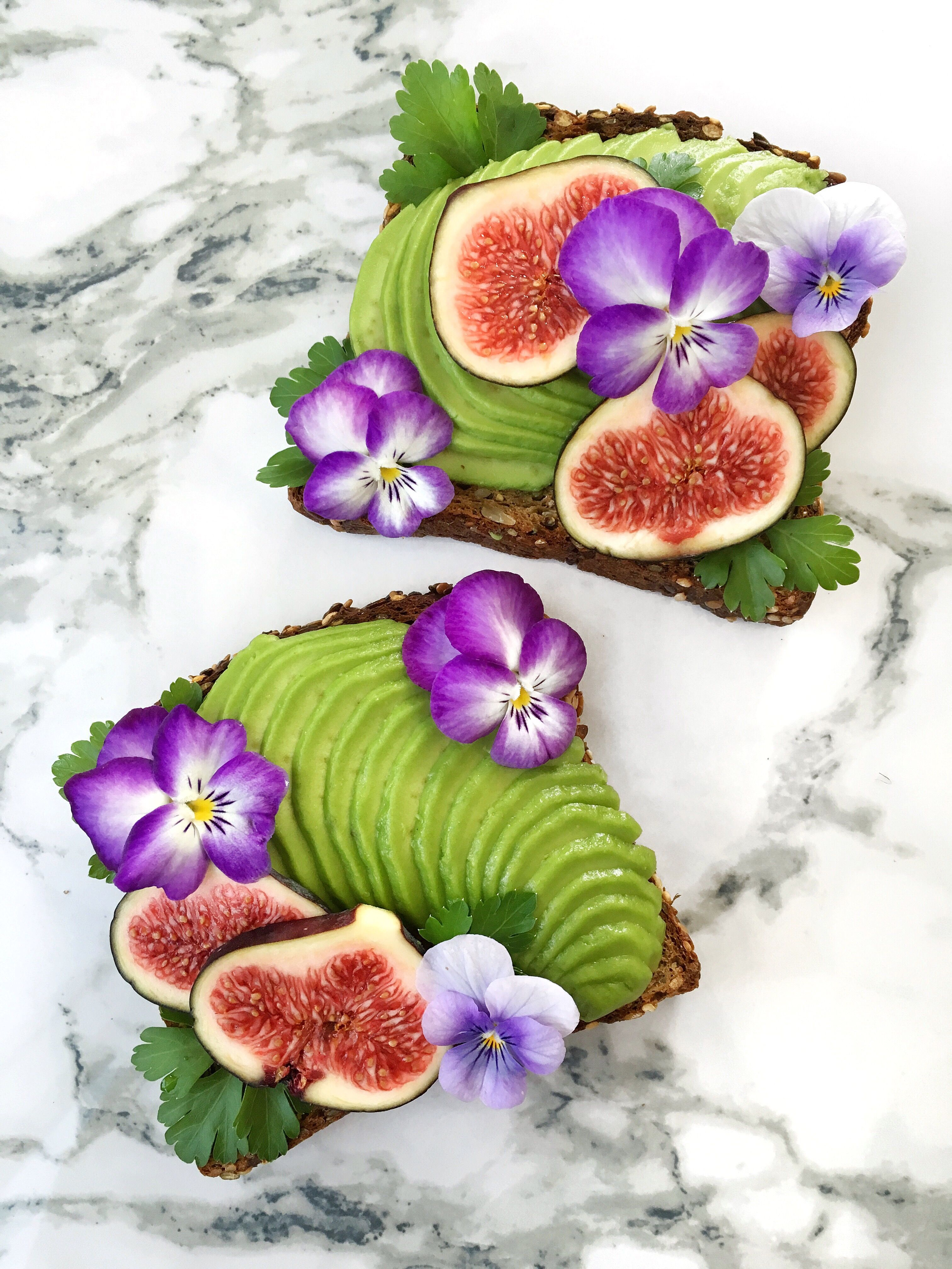 Avocado Toast Parsley Figs And Edible Flowers Recipes To Try