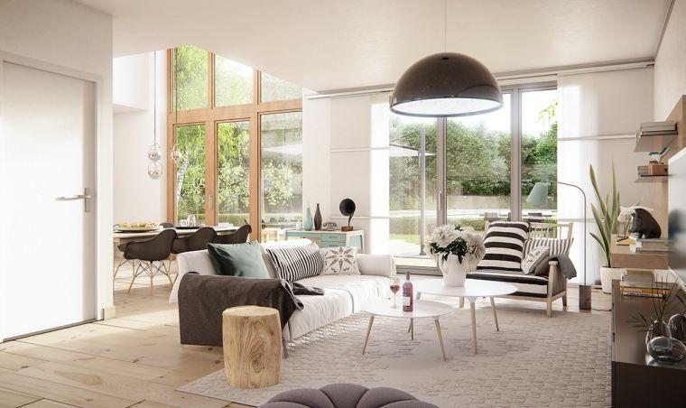 Open space soggiorno e sala da pranzo, come arredare casa, mobili ...