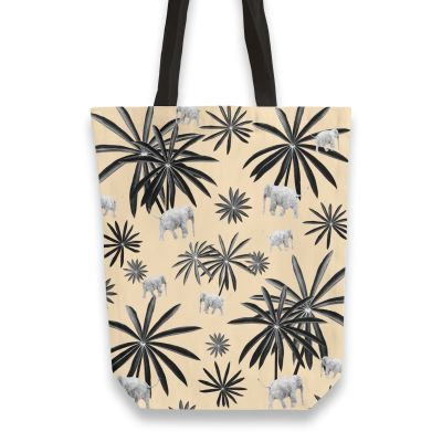 Palm Tree Elephant Jungle Pattern #2 (Kids Collection) #decor #art Totebag by AnitaBellaArt from £17.00 #junglepattern
