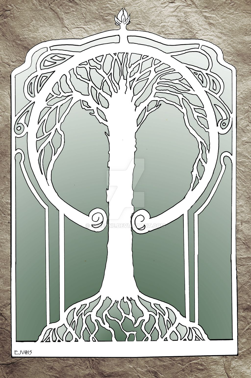 Art Deco Nouveau: Art Nouveau Tree By Syreene