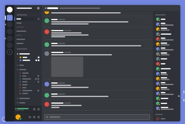 Discord Free voice and text chat App wireframe