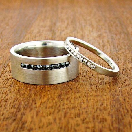 Satellite Wedding Bands by Jeannie Hwang at Turtle Love Co Loves