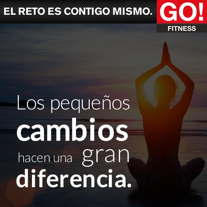 Los pequeños cambios hacen una gran diferencia. #gofitness #clasesgo #ejercicio #gym #fit #fuerza #flexibilidad #reto #motivate