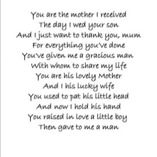 Mother In Laws Poems To My Mother In Law Who Is Now In Heaven May