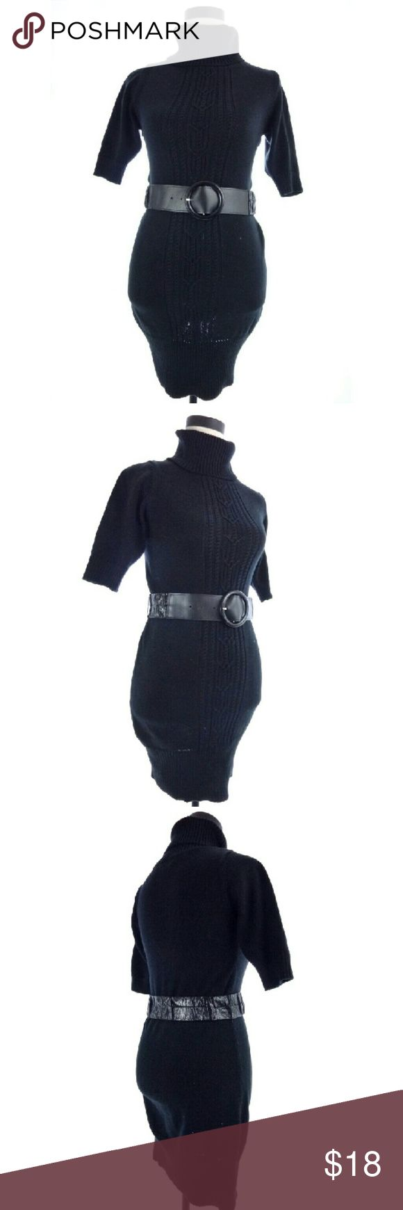 Cool Sweater Dress Black Turtleneck Sweater Dress Small XOXO black cable knit belted sweater dress ... Check more at http://24myshop.tk/my-desires/sweater-dress-black-turtleneck-sweater-dress-small-xoxo-black-cable-knit-belted-sweater-dress/