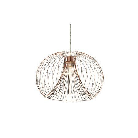 Jonas wire copper pendant ceiling light ceiling lights and living jonas wire copper pendant ceiling light departments diy at bq greentooth Image collections