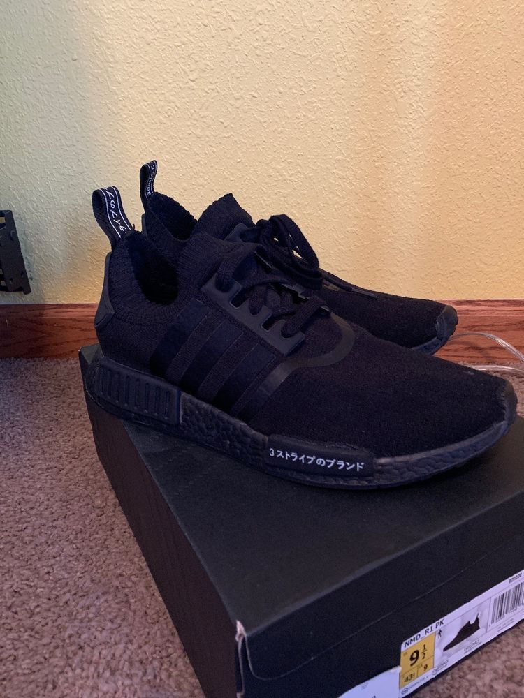 the best attitude 4acb0 374e3 NEW Adidas NMD R1 PK Japan Triple Black - Size US 9 / EU ...