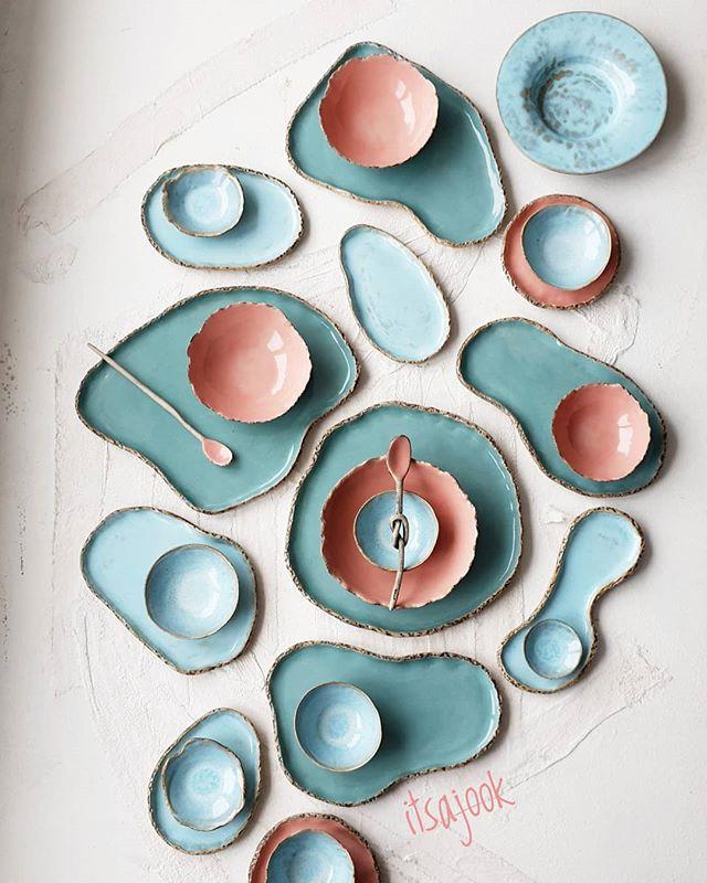 Ceramic Set Table  Home Design Decorations  Trendy Plates bowls  Creative Table   #design #ceramic #table #handmade #design About Itsajook - Sito mychelarinaldi.com