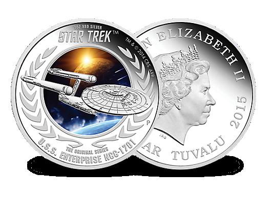 Die Star Trek Silbermünze Uss Enterprise Mdm Deutsche Münze