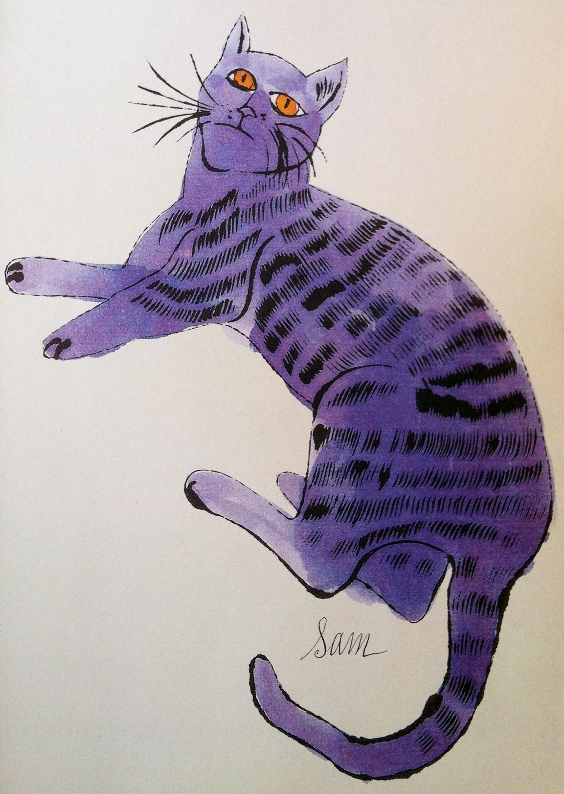 Color cats like - Andy Warhol I Like This Quirky Watercolor So Much Better Than His Famous Color