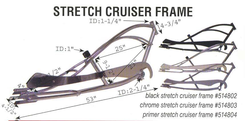 Stretch chopper bicycle frame | Lowrider Bike | Pinterest | Bicycle ...