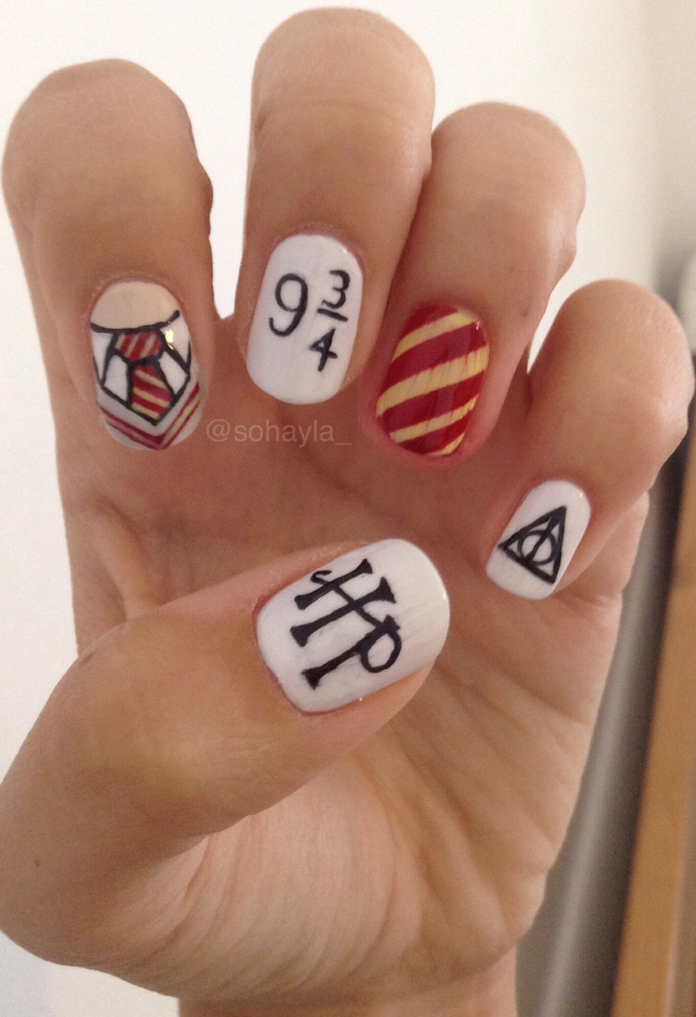 A Review Of Cute Easy Nail Designs Nailz Harry Potter Nails