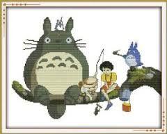 Ghibli cross stitch