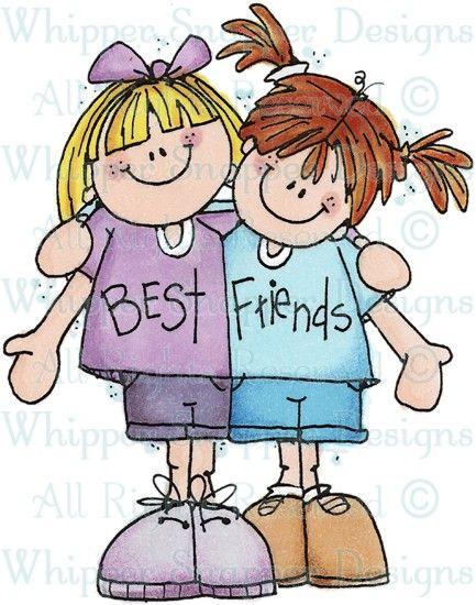 Best Friends Children Rubber Stamps Clip Art Pinterest