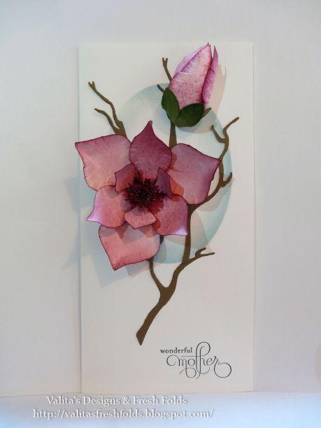 Valita's Designs & Fresh Folds: Magnolia paper art and my craft room update